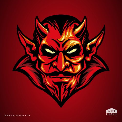 Red Devil Illustrations Vector Premium
