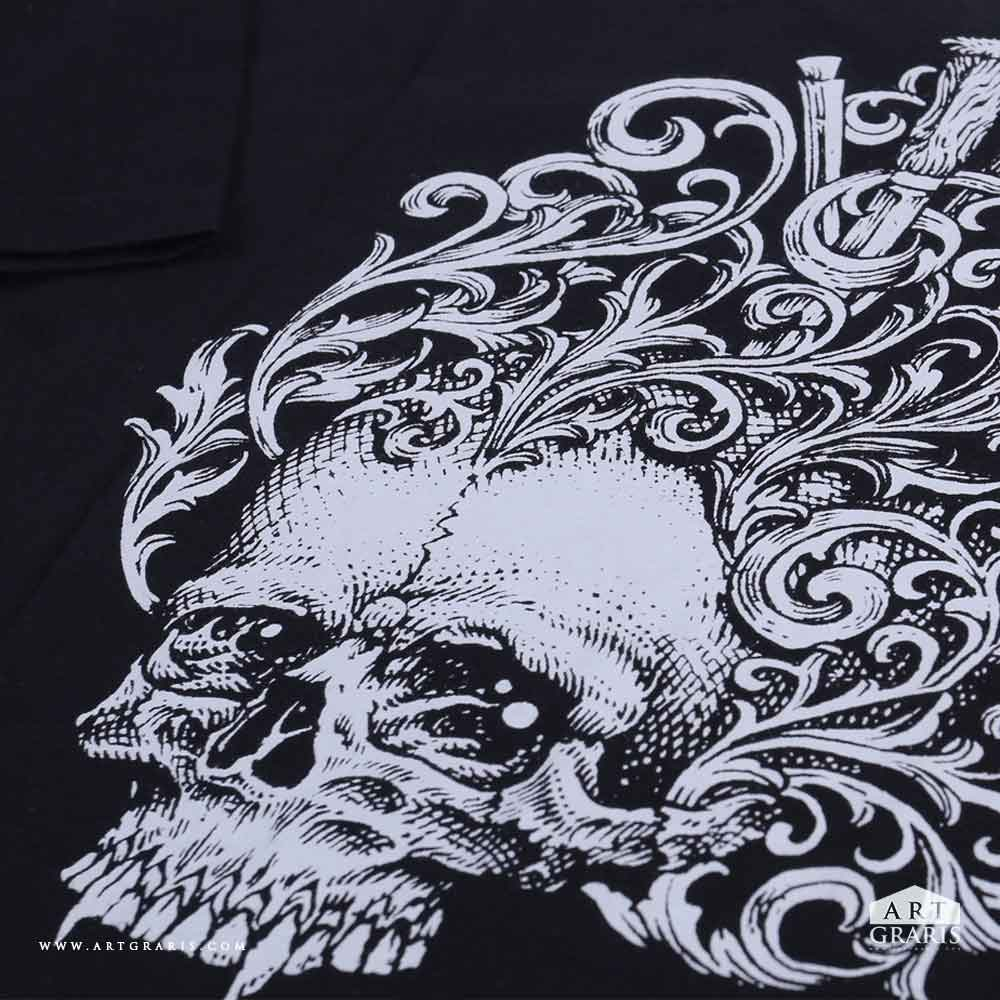 Craftmanship Ornaments Skull Hand Drawn Quality Illustrations T-shirts Printing Artgraris