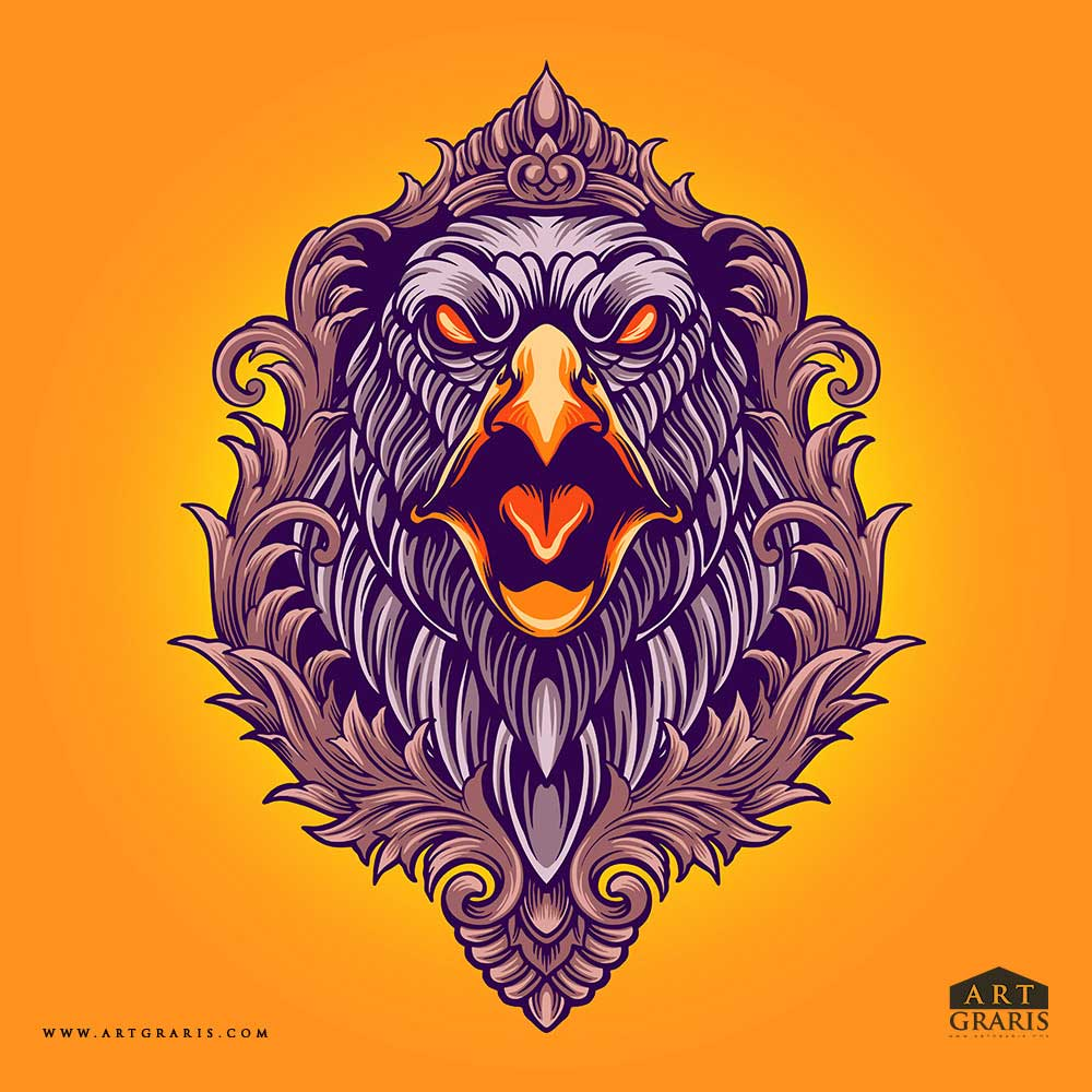 Eagle-Angry-Ornaments-Illustrations