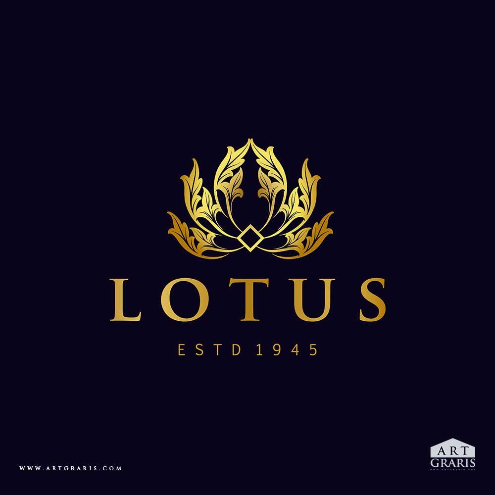 Golden-Lotus-Logo-Flowers-Vector