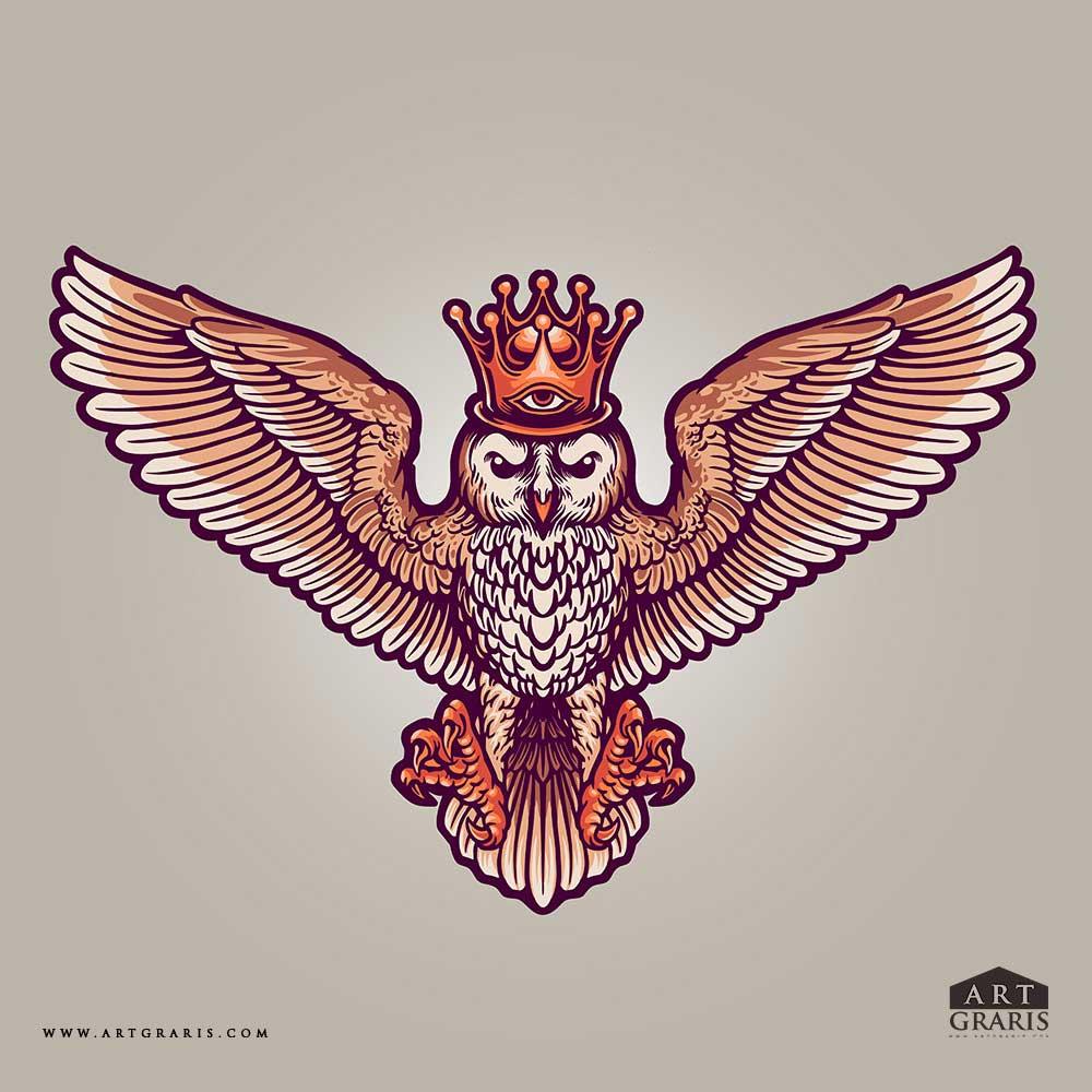 King-Owl-Mascot--Illustrations