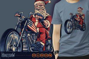 Tees-bikers-santa-claus-merry-christmas-cooper