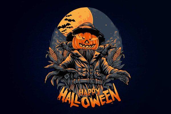 The-Scarecrow-Happy-Halloween-Horror-poster-Illustrations