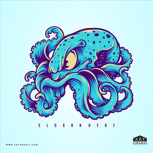octopus Mascot Logo Illustrations